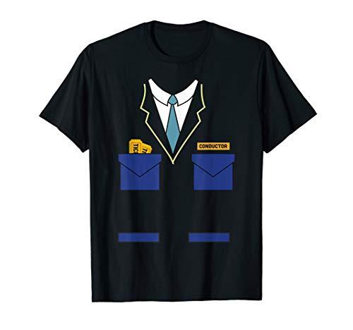 Train Conductor Costume Shirt Halloween Gift for Boys Men T-Shirt