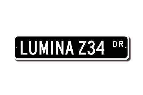C Us Lmf379581 Lumina Z34 Chevrolet Lumina Z34 Sign Chevy Lumina Z34 Gift Chevrolet Lumina Owner Classic Car Custom Street Sign Quality Metal Sign