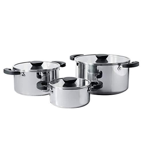 Meyer Kitchen Hacks Stainless Steel 3PC Biryani Pot Set