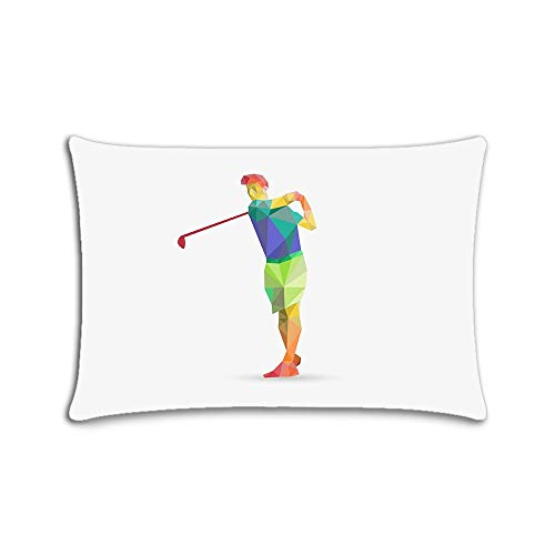 Fashion Zippered Pillow Case Golf Pillow Cover 20x30 Twin Sides -