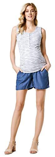 ESPRIT Leinen Shorts Mum mit weichen Overbelly Umstands-Chino C84123 Chambray-capri-hosen