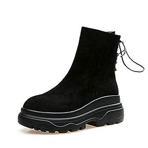 BYUYAN Stiefel Stiefel im Herbst und Winter weibliche Martin Schuhe Biskuitteig dicken Schneeschuhe Studenten.