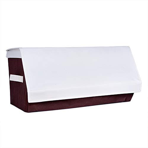 Genius Ideas Aufbewahrungsbox, 50 x 35 x 25 cm, Vlies, starr, stapelbar, mit Klettverschluss