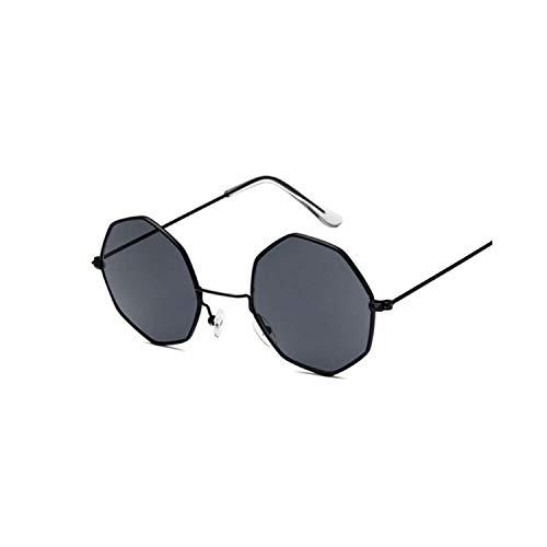 Klassische Sportsonnenbrille, Octagon Yellow Red Round Sun Glasses For Women Mirror Retro Luxury Oval Small Sunglasses Women Designer Oculos De Sol Black Gray