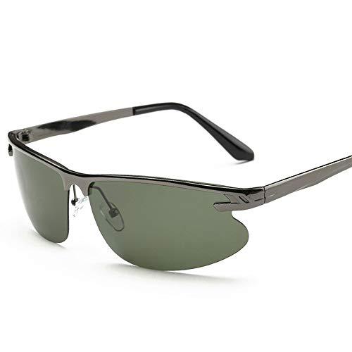 UV400 UV Cut Metallrahmen Sport Sonnenbrille Drive Baseball Fahrrad Angeln Laufen Golf Fahren Polarisierte Sonnenbrille Sonnenbrillen und flacher Spiegel ( Color : Grün , Size : Kostenlos )