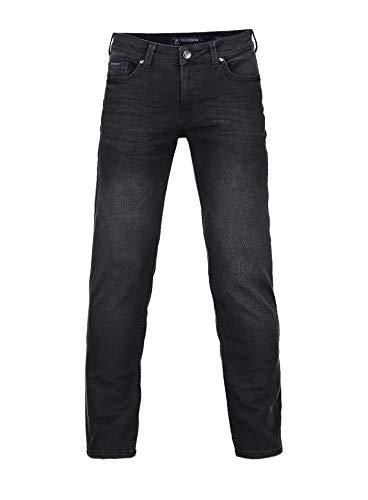 Barbons Herren Jeans - Bügelleicht - Slim-Fit Stretch - Business Freizeit - Hochwertige Jeans-Hose 03-Schwarz 36W / 32L