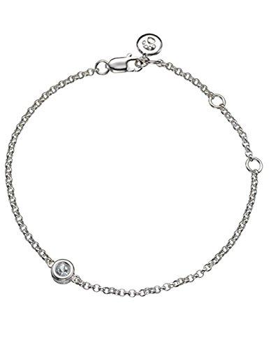 Molly Brown London Armband mit Geburtsstein März (Aquamarin), Sterlingsilber - Aquamarin-geburtsstein-set