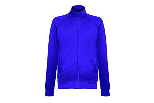 Fruit of the Loom Herren Sweatshirt Lightweight Sweat Jacket Blau (Purple Pe)