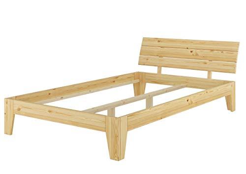 Erst-Holz® Futonbett Einzelbett Überlänge 120x220 Jugendbett Kieferbettgestell ohne Rollrost 60.62-12-220 oR