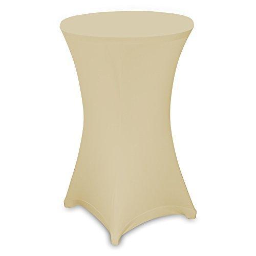 Husse Stehtischhusse Stretch Husse für Stehtisch Bistrotisch 60 cm in creme