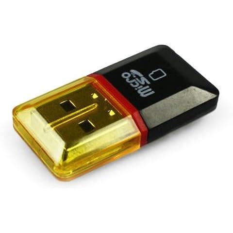 COM-FOUR USB Stick mini adattatore microSD TF lettore di schede Flash Card Reader Writer–1Pezzi nero/rosso