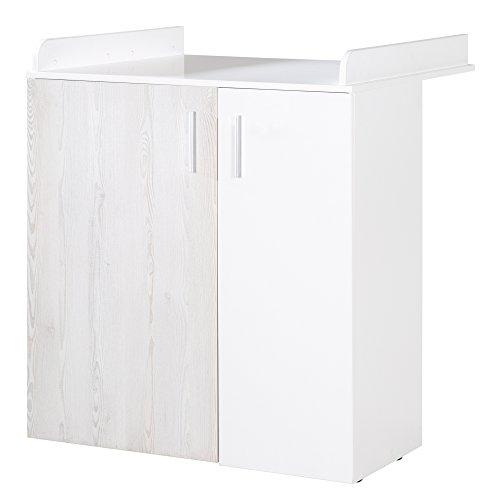 roba Wickelkommode, Babyzimmer \'Alenja\', Kommode inkl. Wickelansatz, Loft Pine/weiß, 2 Türen \'Soft Close\', Wickelhöhe 95 cm