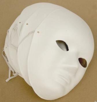 Gesichtsmaske aus Pappmaché, inkl. Gummiband, 10 Stück (Pappmaché-formen)