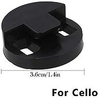 Beesclover Silenciador de violoncello de dos agujeros de goma para violoncello 4/4 o 3/4 violoncello violoncello negro violoncello