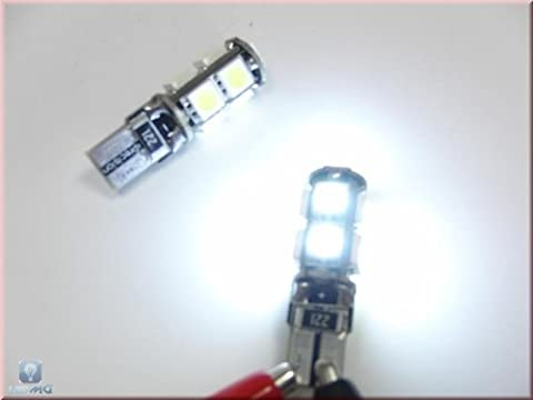 T10 Power LED Innenraumbeleuchtung mit 9x3-Chip SMD xenon weiß
