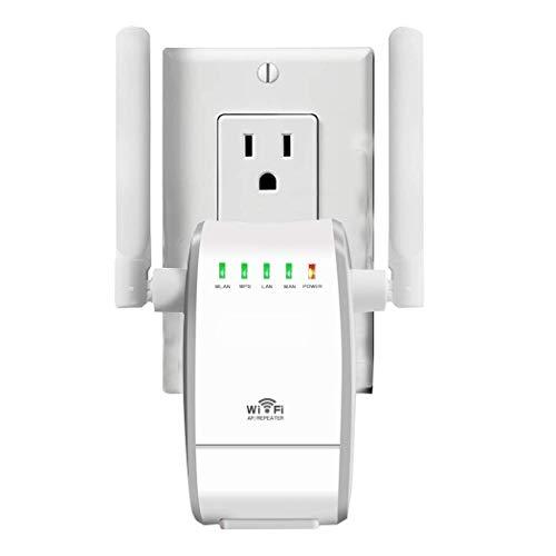 YUNJIN 300Mbit/s WLAN Verstärker Wi-Fi Range Extender Wireless Access Point WLAN Router mit 2 Flexible Externe Antennen, WPS, mit 2 Flexible Externe Antennen, WPS, kompatibel mit Allen WLAN Geräten -