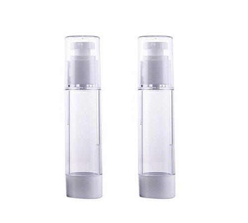 2 PCS 30 ml Rechargeable Vide Pompe En Plastique Bouteille Voyage Échantillon Bouteilles Lotion Distributeur Bouteilles Bocaux pour Maquillage Cosmétique