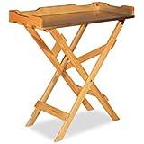 Mesa de siembra mesa auxiliar de madera, placa de zinc, natural B78X T39X 82cm
