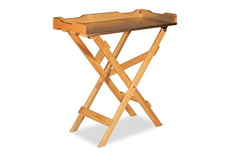 Table basse Table de jardinage en bois, Plateau Zinc, nature B78 x T39 x H82 cm