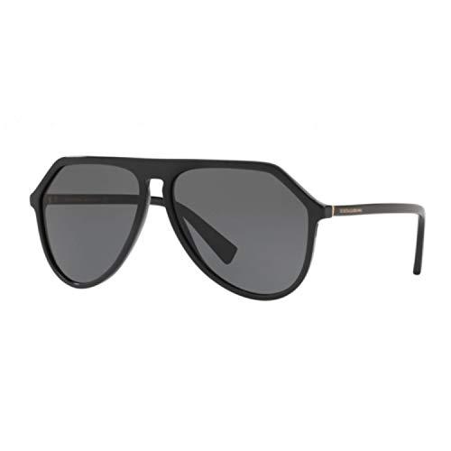 Dolce & Gabbana Herren Sonnenbrille DG4341, Schwarz (Black), 59
