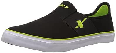 Sparx Men's SM-214 Black and Flourescent Green Sneakers - 10 UK/India (44 EU)(SC0214G)
