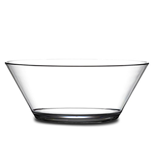 Elite Polycarbonate Serving Bowl 1.75ltr - Virtually Unbreakable Plastic Bowl for Punch and Trifle by BB Plastics