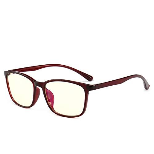 Yajiemei Anti-Blue-Light-Brille Rahmen Anti-Strahlung Brille Computer Brille Nicht verschreibungspflichtige Brille für Frauen (Color : Red)