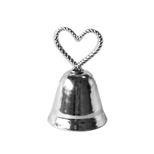 Sitz Karte Herz Clip Kissing Glocke glückliche Sitzkartenhalter Schellen Tabellen-Zahl-Halter ()