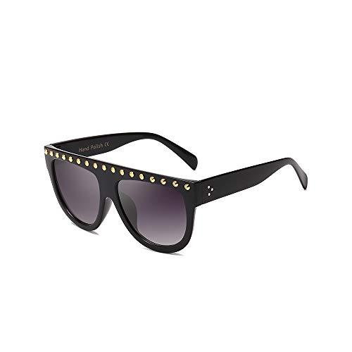 WJFDSGYG Mode Großen Sonnenbrillen Womens Two-Tone Frames Sonnenbrillen Punk-Stil Männer Brillen Uv400 Flat Top Entworfen