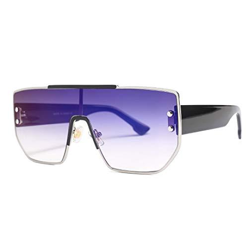 Hjyi Sonnenbrillen Polarisierte Vernetzte Linsen Unisex Retro uv400 Damen Farben markantem halbrahmen gläser Elegante getönt Klassische Outdoor Reisen trendigen reflektierende