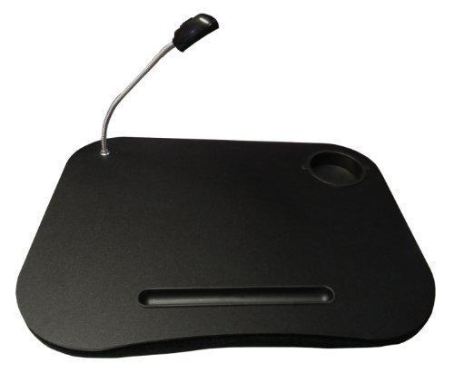 Schwarzer Tragbarer Laptop Tisch & Leselicht Netbook Ablage Kissen