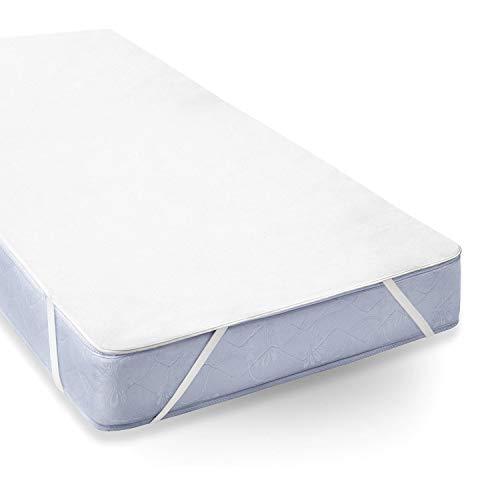 Uniento coprimaterasso impermeabile, 160 x 190/200 cm, proteggi materasso traspirante, anallergico, antiacari - copri materassi con trattamento nuova generazione - 5 anni di garanzia