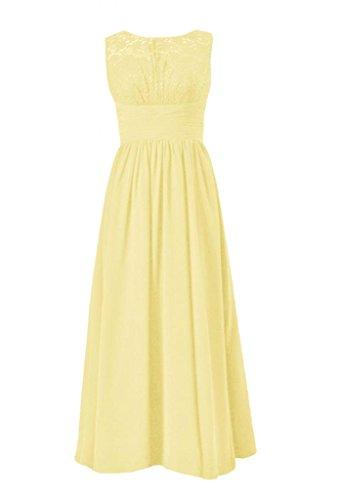 daisyformals dentelle vintage robe de soirée longue en dentelle de mariage Parti robes (bm2529l) Jaune - #24-Banana