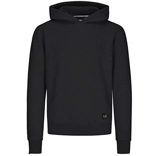 urban ace | Hoodie, Pullover | Herren, Unisex | für Fitness und Freizeit | grau oder schwarz | weich, mit hochwertiger Verarbeitung | S, M oder L (schwarz, L)