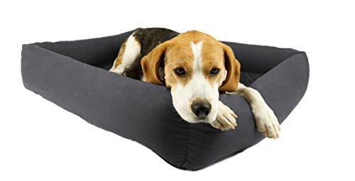 Antiallergisches Hundebett inkl. kissen, Premium Qualität Made in Germany, 95 Grad Waschbarkeit für höchste Reinheit, von Tierärzten entwickelt