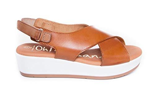 Sandalia - Mujer - Plantilla Gel - Oh my Sandals 4336 Cuero