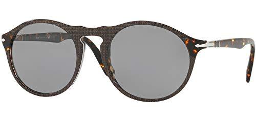 Ray-Ban Herren 0PO3204SM Sonnenbrille, Braun (P.Galles Grey), 54.0
