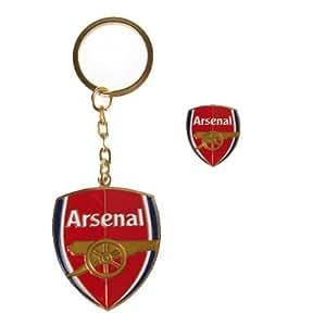 OFFICIEL ARSENAL FC insigne et un ensemble de porte-clés