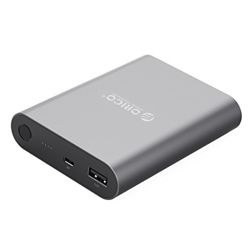 ORICO Qualcomm Quick Charge 2.0 10400mAh Portable Charger External Battery Pack Power Bank for Nexus 6, Galaxy S6/S6 Edge/Note 4/Note Edge, Sony Xperia Z3, Z2, Tablet and More - Gray (Q1)