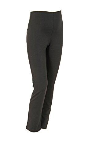 Christoff Pantalon Dora vêtements de maternité Pantalon Femmes 53/33/9 Coupe Droite (Jambe Droite) avec Confort Taille haute Schwarz (Black)