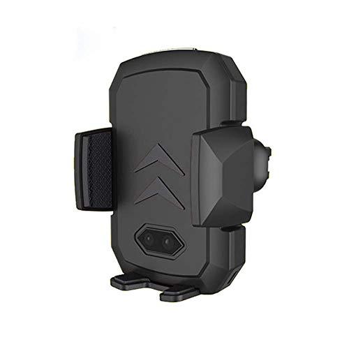 Nevter359 Intelligente drahtlose Ladehalterung für Induktions-Infrarotautos, 10 W Qi Standard Wireless Air Vent Mount Kfz-Ladegerät Telefonhalter Ständer Halterung - 1200 Portable Gps