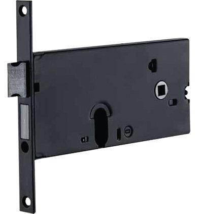 Codeschloss-Stirnband-950-fr-Tren-aus-Aluminium-GUMMIERTES-FINISH-Bohrung-Oval-fr-Zylinder-Verschlussschraube-fr-Zylinder-Ohne-Zylinder-Mit-Schnapper