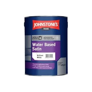 Johnstone's Trade Aqua Water Based Satin Manhattan Grey 1L specially tinted colour by avenue coatings