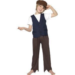 Bauer Kostüm Kid - Smiffy's Boys Adventure armen Bauern Kostüm Viktorianischer Stil, 4-6 Jahre