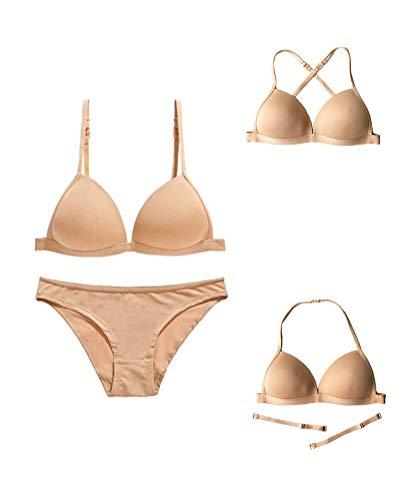 2fc950d3d10 Awake Lingerie Simplicity Sujetador sin Costura y Bragas para Mujer