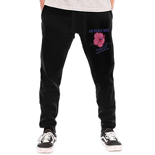 LihaiLe Air Force Wife Men's Long Pockets Pants Black Air Force Pocket Patch