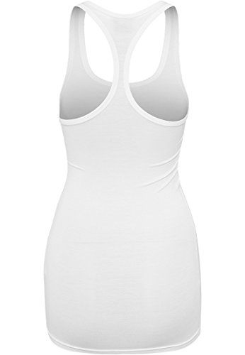 Urban Classics Ladies Fitted Viscose Racerback Tank Top Femme noir white