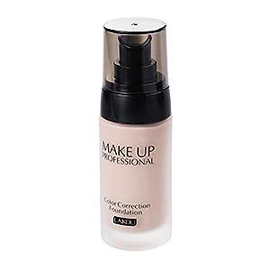 Frcolor 40g Whitening Coverage Fließende Flüssige Foundation Concealer Ölkontrolle Wasserdichte Make-Up Kosmetik (Naturweiß)