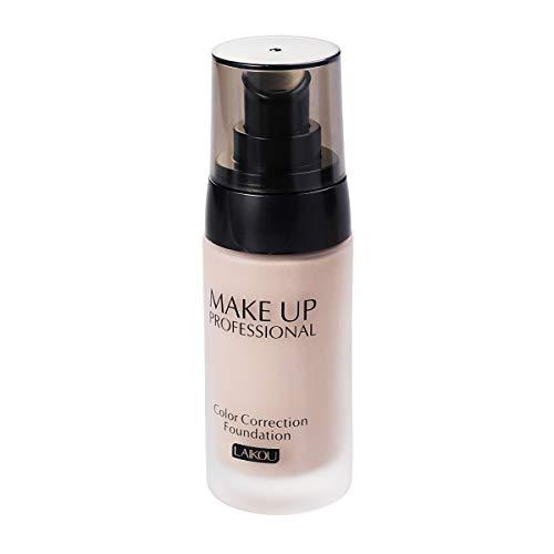 Frcolor 40 g de blanchiment Couverture Liquide Qui coule Fond de Teint correcteur d'hydrocarbures Maquillage imperméable cosmétiques (Blanc Naturel)