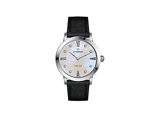 Eterna Eternity Lady Quartz Watch, ETA 956.412, 32mm, White, Leather Strap